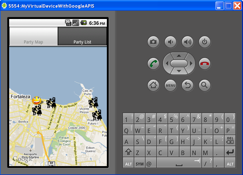 Android Emulate Location Change Example