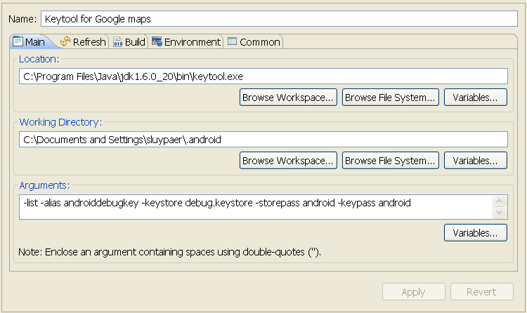 Android Keytool Example