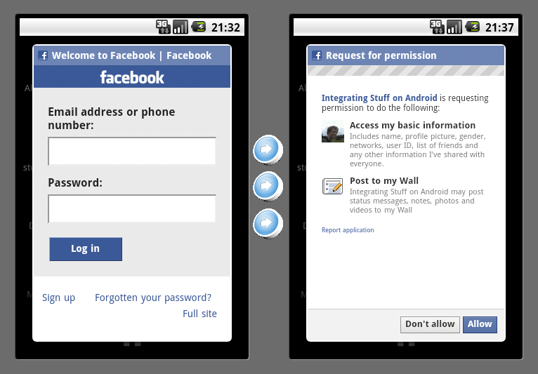 Adding Facebook integration to an Android application